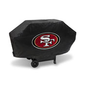 49Ers Deluxe Grill Cover (Black)