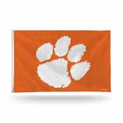 Clemson Banner Flag (Orange W/White Paw)