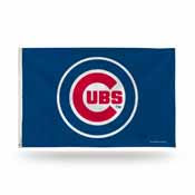 Chicago Cubs Logo (On Blue) Banner Flag
