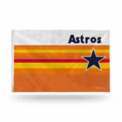 Houston Astros Retro Rainbow Banner Flag