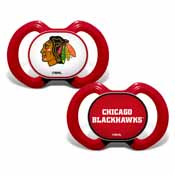 Pacifier (2 Pack) - Chicago Blackhawks