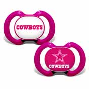 Pacifier (2 Pack) Pink - Dallas Cowboys