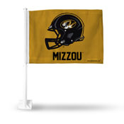 University/Missouri Helmet Car Flag
