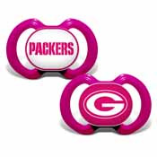 Pacifier (2 Pack) Pink - Green Bay Packers