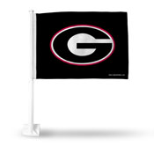Georgia G On Black Car Flag