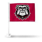 Georgia Red Flag With New Bulldog Logo Car Flag