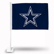 Dallas Cowboys Car Flag W/Star