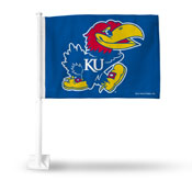 University Of Kansas Jayhawks Car Flag