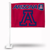 Arizona Car Flag Red Bkg