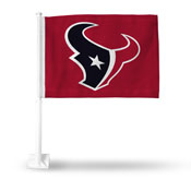 Houston Texans Red Bkg Car Flag