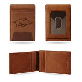 Arkansas University Premium Leather Front Pocket Wallet