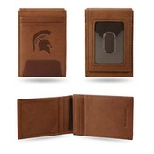 Michigan State Premium Leather Front Pocket Wallet