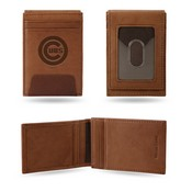 Cubs Premium Leather Front Pocket Wallet
