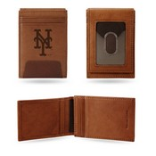 Mets Premium Leather Front Pocket Wallet