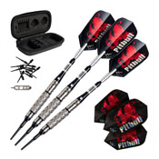 Viper Pitbull Tungsten Soft Tip Darts Diamond Cut and Shark Fin Barrel 18gm