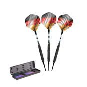 Elkadart Titanium 90% Tungsten Soft Tip Darts Black Titanium Coating