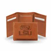 Lsu Embossed Leather Trifold