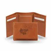 Kansas Embossed Leather Trifold