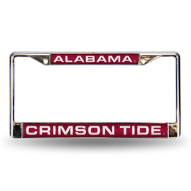 Alabama Red Laser Chrome Frame