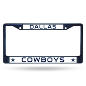 Cowboys Navy Colored Chrome Frame