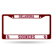 Oklahoma Maroon Colored Chrome Frame