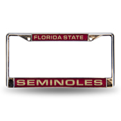 Florida State Red Laser Chrome Frame