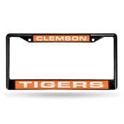 Clemson Black Laser Chrome Frame