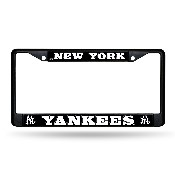 New York Yankees Black Chrome Frame