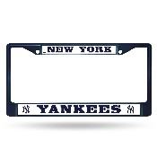 Yankees Navy Colored Chrome Frame