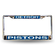 Pistons Blue Laser Chrome Frame