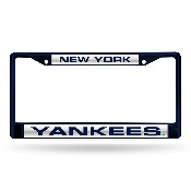 Yankees Navy Laser Colored Chrome Frame