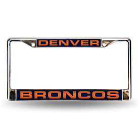 Denver Broncos Laser Chrome Frame