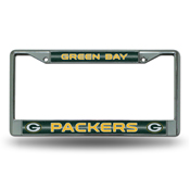 Green Bay Packers Bling Chrome Frame