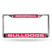 Georgia Bulldogs Red Laser Chrome Frame