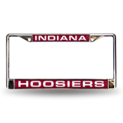 Indiana Hoosiers Red Laser Chrome Frame