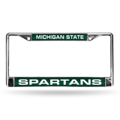 Michigan State Green Spartans Laser Chrome Frame