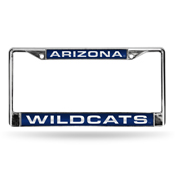 Arizona Wildcats Laser Chrome Frame