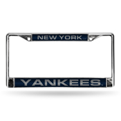 New York Yankees Laser Chrome Frame