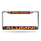 Central Michigan Chippewas Laser Chrome Frame