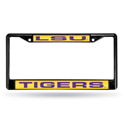 LSU Tigers Black Laser Frame