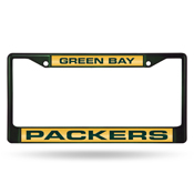 Green Bay Packers Laser Colored Chrome Frame