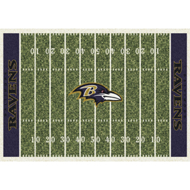 Baltimore Ravens 6'x8' Homefield Rug