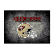 San Francisco 49ers 8'x11' Distressed Rug