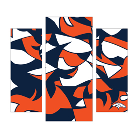 Denver Broncos Modern 3 Piece Wall Art