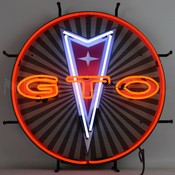 Gto Pontiac Standard Neon Sign With Backing