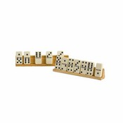 2Pc. Wooden Domino Tile Holder