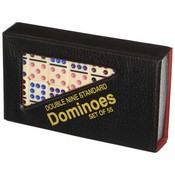 Color Dots Standard Vinyl Case Double 9 Dominoes