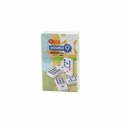 Color Dots Wht Tile Professional Box Dbl 9 Dominoes