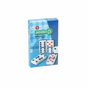 Color Dots Wht Tile Professional Box Dbl 6 Dominoes