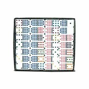 Color Dots Wht Tile Pro. Vinyl Case Double 15 Dominoes